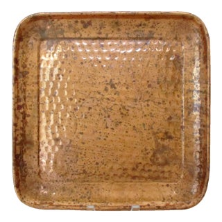 Hand-Hammered Copper Tray