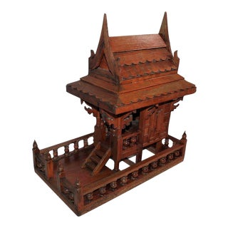 Arts & Crafts Folk Art Thai Style Boat House