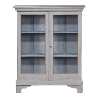 Antique English Painted Bookcase Display Cabinet circa 1875