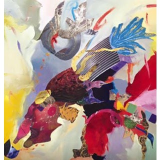 "Donna Raven ""Amoeba"" Mixed Media Artwork"