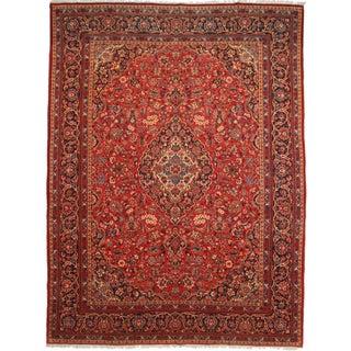 Rugsindallas Persian Kashan Wool Rug - 10′9″ × 14′3″