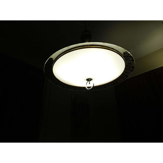 Image of Lightoleir Mid-Century Retractable Atomic Saucer Chandelier