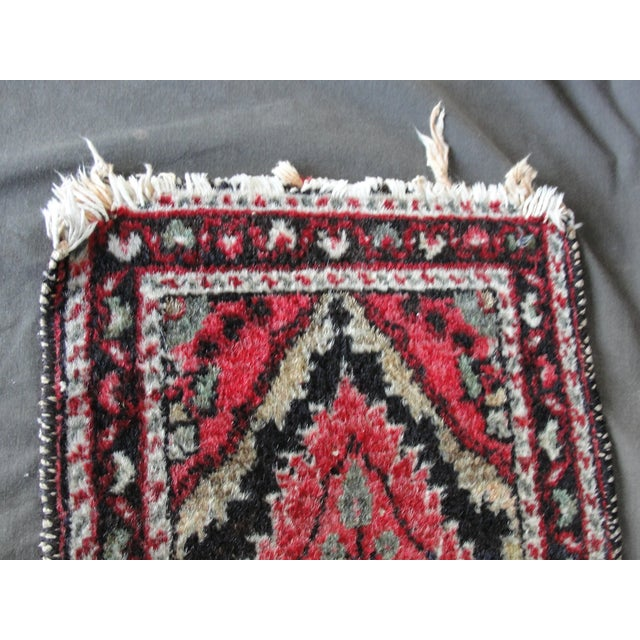 Vintage Wool Hand Tied Prayer Rug - 1′3″ × 2′2″ - Image 4 of 5