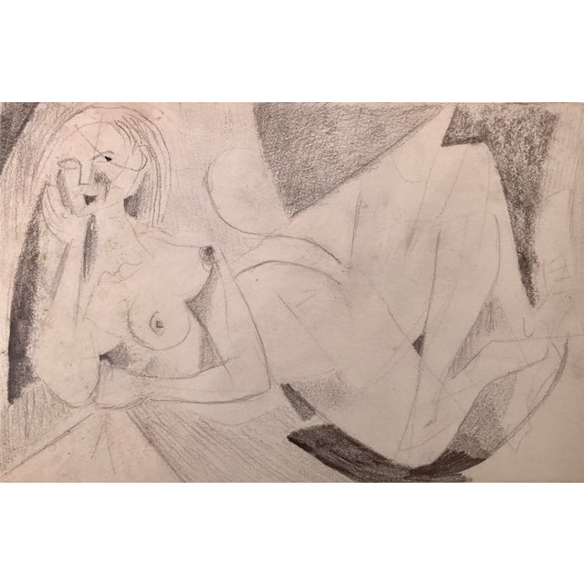 Image of Abstract Figurative Nude Drawing Richard Ericson