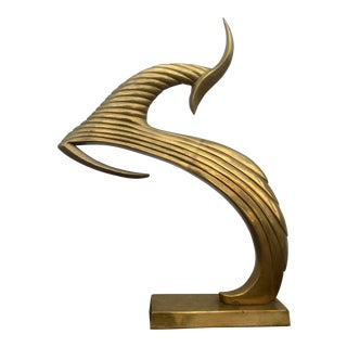 Dara International Brass Gazelle Sculpture
