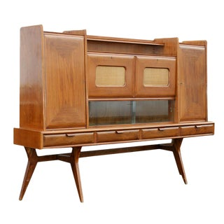 Italian Walnut Sideboard Dry Bar