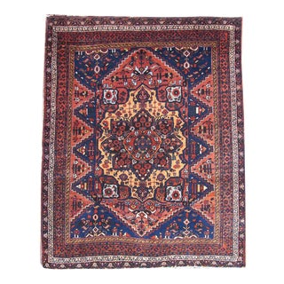 Afshar Rug with Persian Central Medallion
