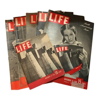 1936 Life Magazine First Historical Issues - Set of 6