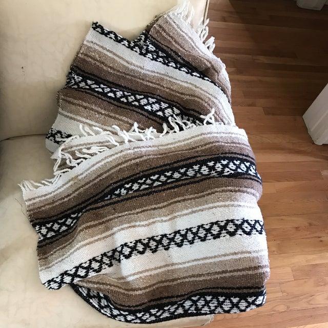 Mexican Boho Serape Blanket - Image 4 of 7