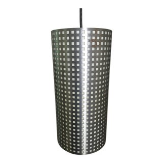 Mid-Century Modern Silver Pendant Lamp