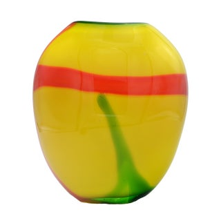 Colorful Murano Glass Vase attributed to Seguso