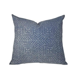 Navy Applique Pillow