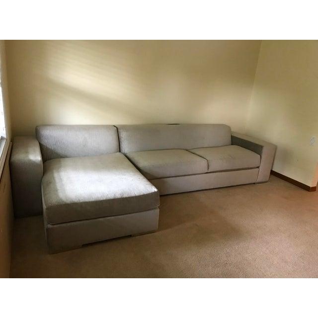 Silver Kravet Custom Sofa - Image 3 of 5