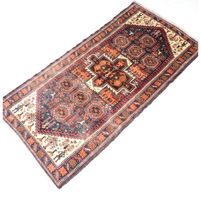 Hand Knotted Persian Baluch Rug - 3′3″ × 6′10″ - Image 2 of 9