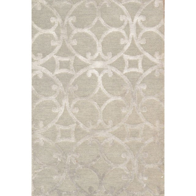 Image of Pasargad Modern Silk & Wool Area Rug- 6'x9'