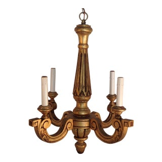 Vintage Gilt Wood Chandelier