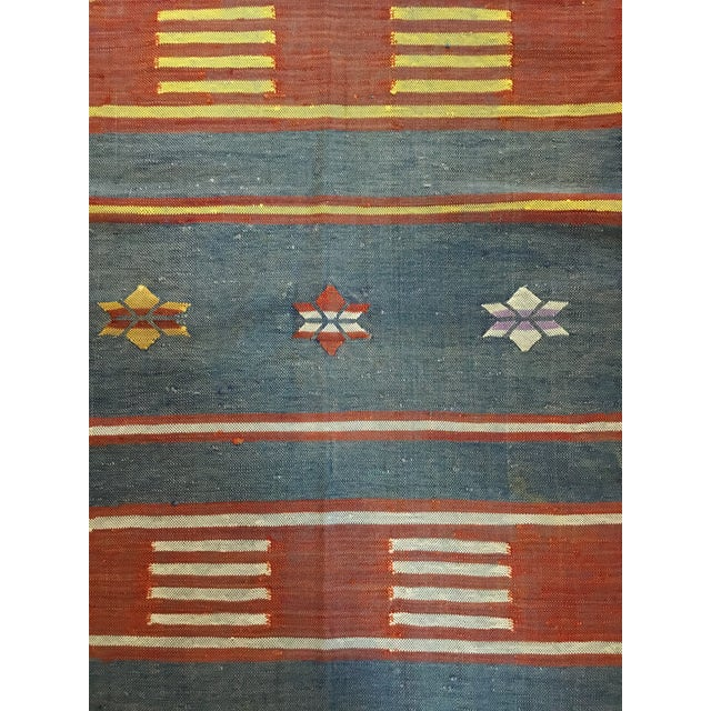 "Moroccan Cactus Silk Flat Weave Kilim Runner Rug - 25"" x 108"" - Image 9 of 11"
