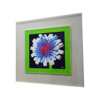 "Original ""Dandelion"" Photograph in Lucite Frame"