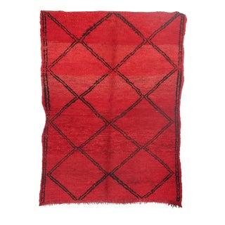 "Vintage Boujaad Moroccan Berber Rug - 4'9"" x 6'8"""