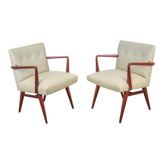 Jens Risom Model 108 Walnut Side Chairs