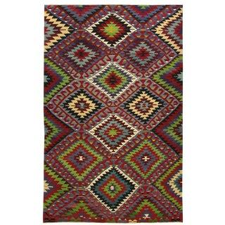 Vintage Turkish Kilim | 6'3 x 10'6 Flatweave