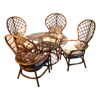 Ficks Reed Bamboo Regency Dining Set