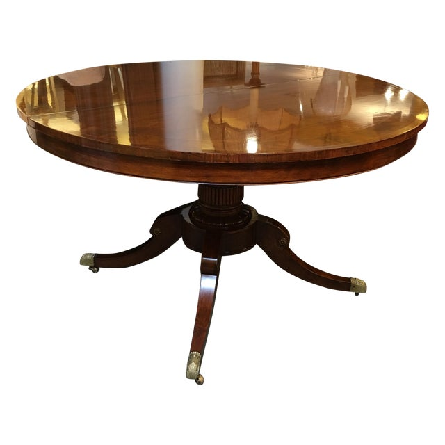 Old Colony Mahogany Pedestal Dining Table & Leaves - Image 1 of 11