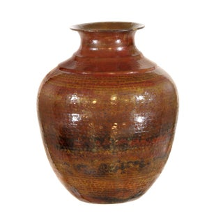 Pasargad's Hand-Forged Copper Vase 21""