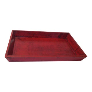 Red Pine Wood Tray