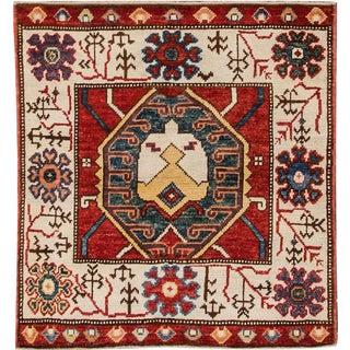 "Apadana - Vintage Turkish Oushak Rug, 3'8"" x 3'11"""