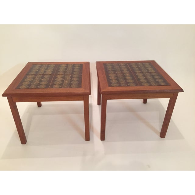 Toften Tile Top Side Tables - A Pair - Image 3 of 7