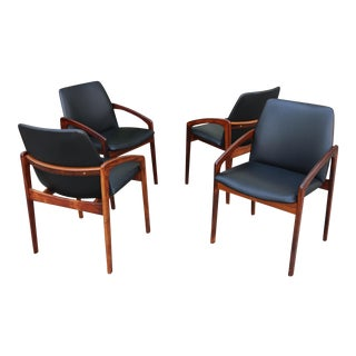 Set of 4 Kai Kristiansen Side Chairs or Arm Chairs