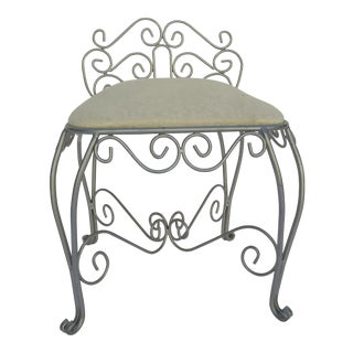 Wrought Iron Vanity Chair