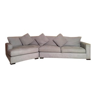 Microsuede L Shaped Sectional