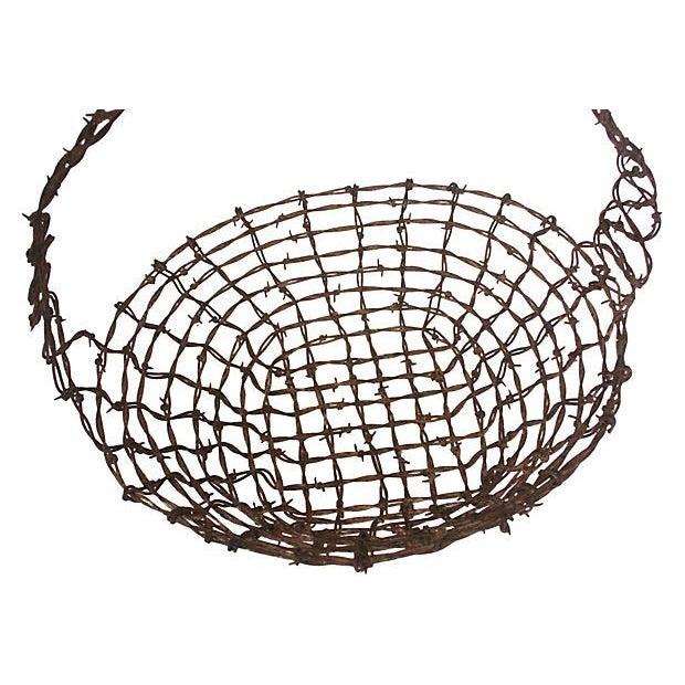 Barbed Wire Folk Art Basket - Image 3 of 3