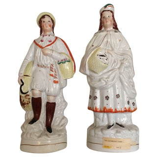 Large Staffordshire Figures - A Pair