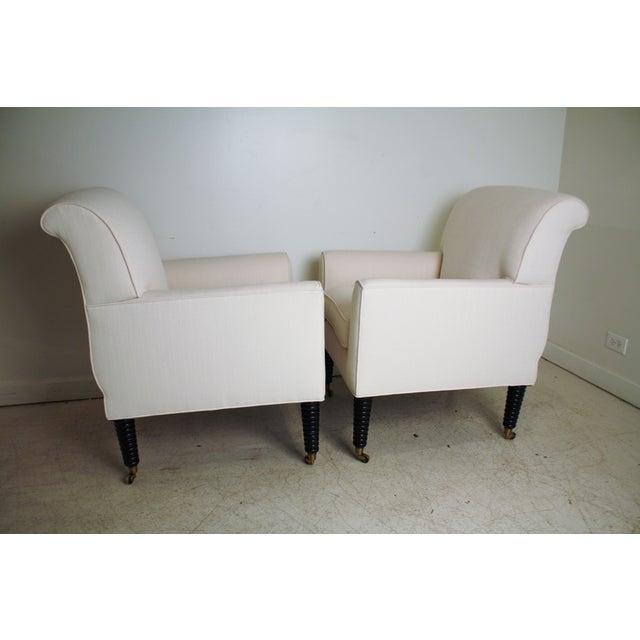 Ralph Lauren White Club Chairs - A Pair - Image 3 of 5