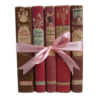 "Vintage Book Gift Set: Girl's ""Blush"" Treasury - Set of 5"