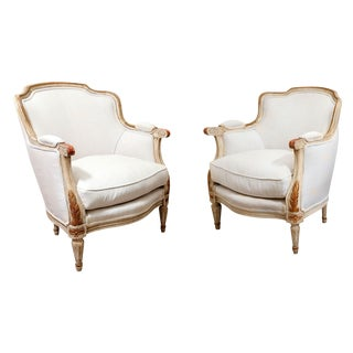 Pair of Late 19th Century French Bergères