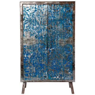 Metal Recycled Oil Drum Armoire