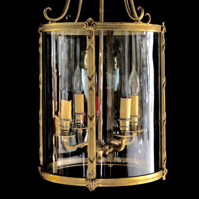 French Style Glass Hanging Lamp - Image 5 of 7