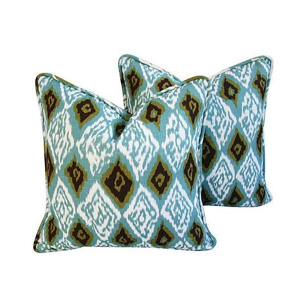 Custom Eaton Square Firebird Linen Pillows - Pair - Image 1 of 7
