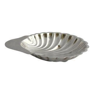 Vintage Silver Plate Shell Serving Dish