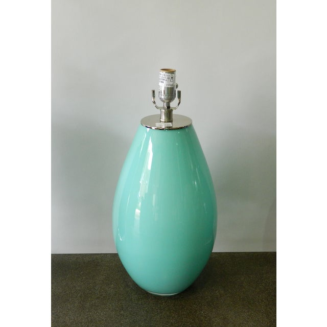 Image of Seafoam Glass Table Lamp