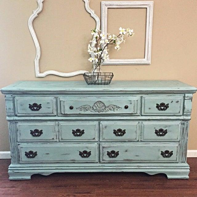 Vintage Distressed 7-Drawer Dresser - Image 9 of 10