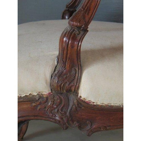 Antique 1900s Louis XV Large Scale Armchair - Image 4 of 9