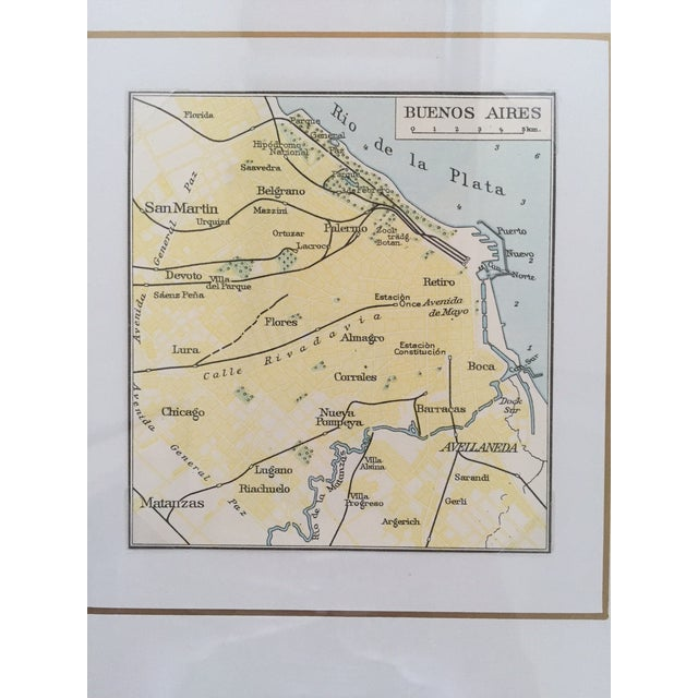 Framed Vintage Map of Buenos Aires - Image 4 of 5