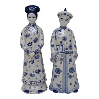 Chinese Porcelain Figurines, a Pair