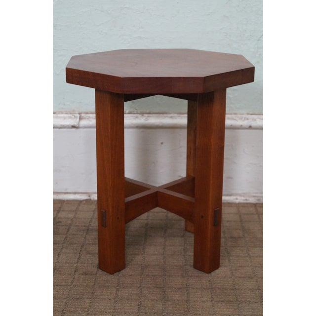 Stickley Mission Style Cherry Side Table (A) - Image 2 of 10