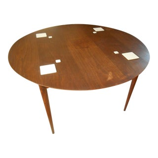 1950s Vintage Mid-Century Danish Modern Hibriten Teak or Walnut Dining/Game Table